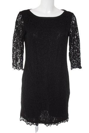 Esprit Spitzenkleid schwarz florales Muster klassischer Stil