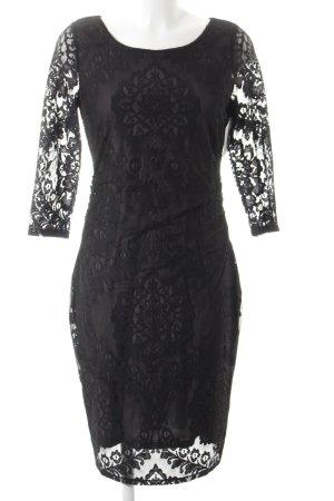 Esprit Spitzenkleid schwarz-graubraun Elegant