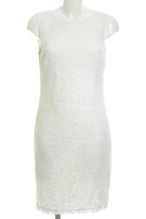 Esprit Spitzenkleid wollweiß florales Muster Spitzen-Optik