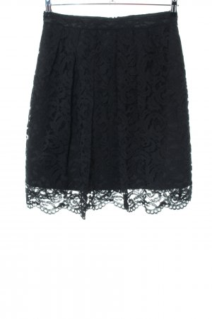 Esprit Kanten rok zwart bloemenprint elegant