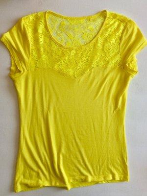 Esprit Spitzenshirt gelb