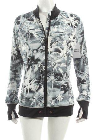 Esprit Veste de sport noir-blanc motif floral