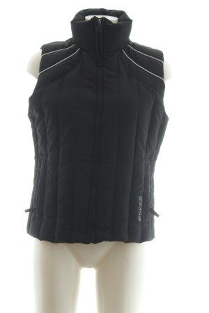 Esprit Sports Daunenweste schwarz-silberfarben Steppmuster sportlicher Stil