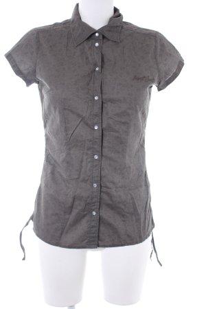 Esprit Sports Kurzarm-Bluse graubraun Casual-Look