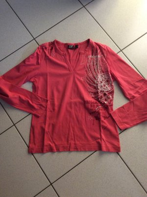 Esprit Sports Shirt langarm Gr. 40 mit Print und Glitzer