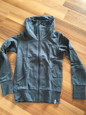 Esprit Sports Sweat-Jacke Damen blau/grau/petrol, Größe 34 XS