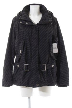 Esprit Sports Winterjacke schwarz-dunkelgrau Streifenmuster sportlicher Stil
