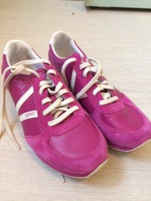ESPRIT Sportschuh Sneakers Pink/ Weiß Größe 39
