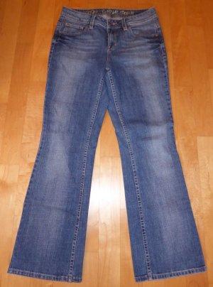 Esprit Star Straight Damen Jeans W30 L30 Short Blau Neu