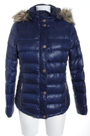 Esprit Gewatteerd jack donkerblauw quilten patroon simpele stijl