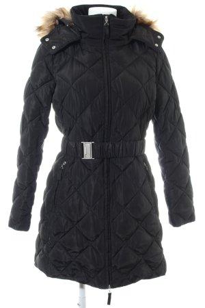 Esprit Manteau matelassé noir motif de courtepointe style décontracté