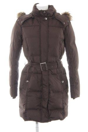 Esprit Gewatteerde jas donkerbruin-grijs-bruin casual uitstraling