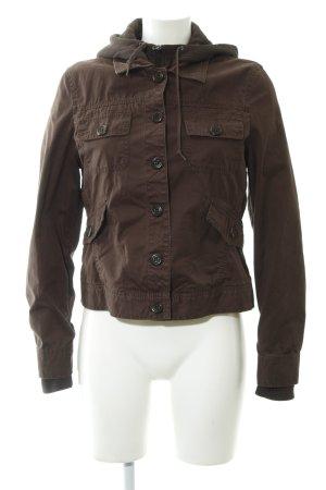 Esprit Manteau matelassé brun foncé motif de courtepointe style décontracté