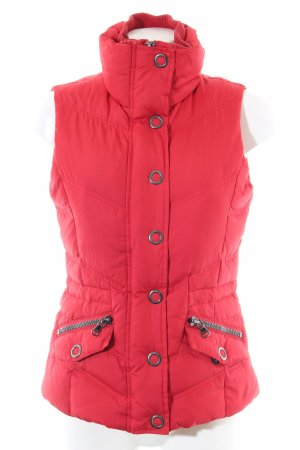 Esprit Gewatteerd vest rood quilten patroon casual uitstraling