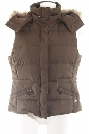 Esprit Quilted Gilet bronze-colored quilting pattern casual look