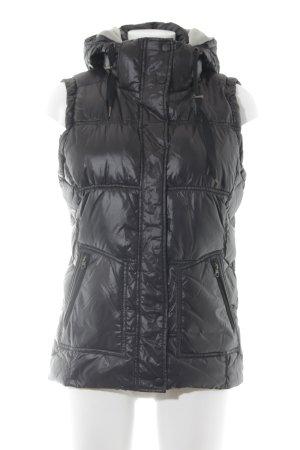 Esprit Quilted Gilet dark grey casual look