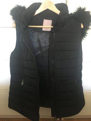 Esprit Steppweste mit Fake Fur in Gr. 40