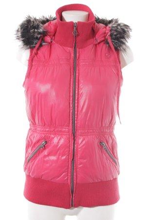 Esprit Steppweste pink Casual-Look
