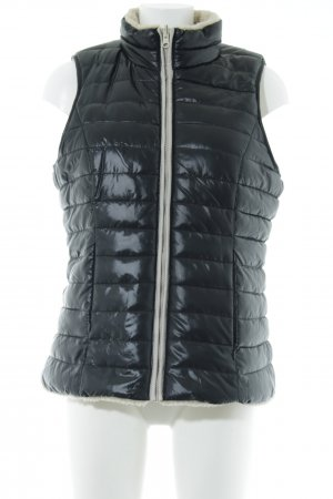 Esprit Quilted Gilet black-oatmeal casual look