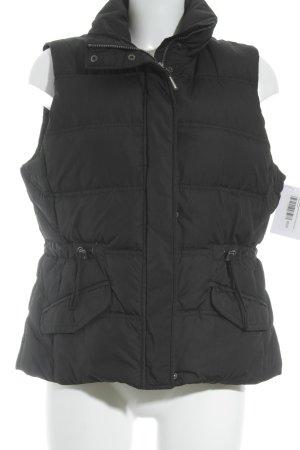 Esprit Gewatteerd vest zwart quilten patroon casual uitstraling