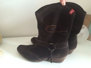 Esprit Stiefeletten Echtleder Gr. 41 Cowboy braun Stiefel Winter Weihnachten
