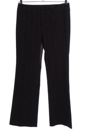 Esprit Stoffhose schwarz Streifenmuster Business-Look
