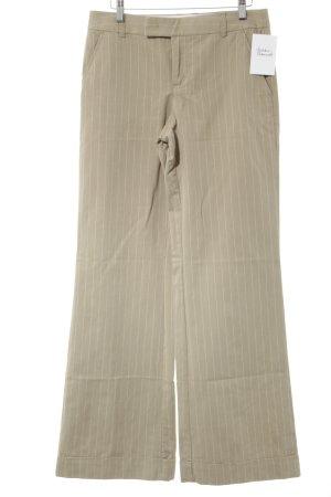 Esprit Stoffhose beige-weiß Nadelstreifen Business-Look