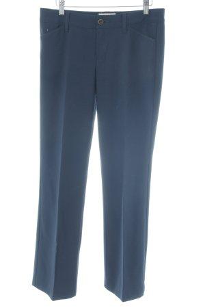 Esprit Stoffen broek donkerblauw zakelijke stijl