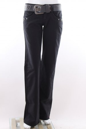 Esprit Stoffhose dunkelblau mit Gürtel