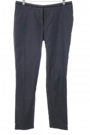 Esprit Stoffhose dunkelblau-weiß florales Muster Business-Look