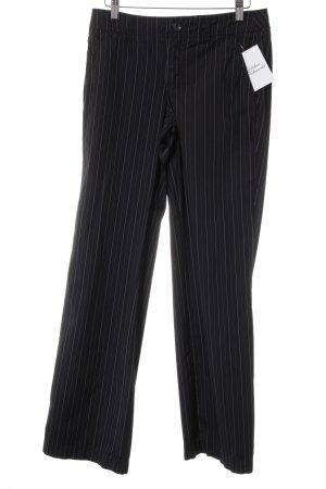 Esprit Stoffhose dunkelblau-weiß Nadelstreifen Business-Look