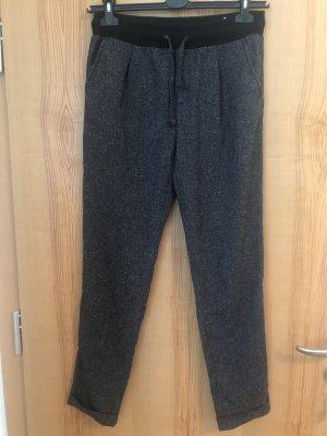 Esprit Pantalón de pinza alto negro-gris oscuro