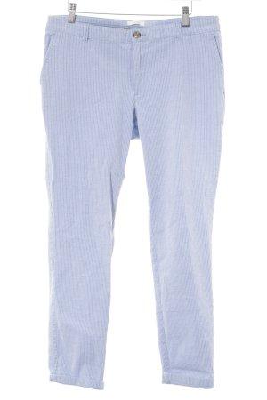 Esprit Stoffhose himmelblau-weiß Streifenmuster Casual-Look