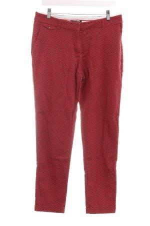 Esprit Stoffhose rot-schwarz abstraktes Muster Casual-Look