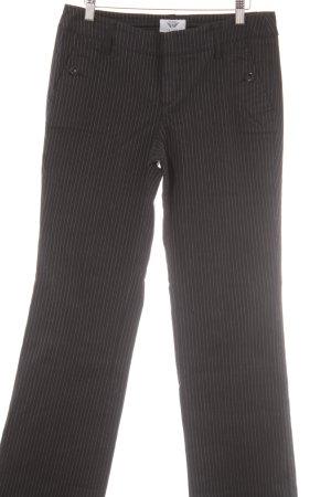 Esprit Stoffhose schwarz-weiß Nadelstreifen Business-Look