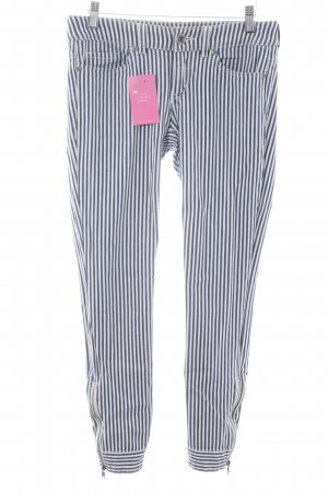 Esprit Jersey Pants white-dark blue striped pattern casual look
