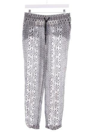 Esprit Stoffhose weiß-schwarz abstraktes Muster Casual-Look