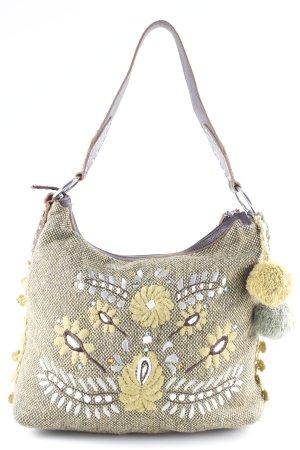 Esprit Stofftasche olivgrün-grasgrün florales Muster extravaganter Stil