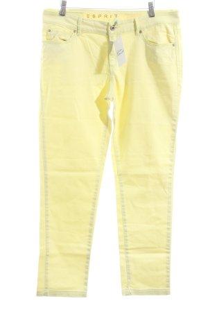 Esprit Straight-Leg Jeans blassgelb sportlicher Stil