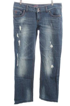 Esprit Straight-Leg Jeans blau Street-Fashion-Look