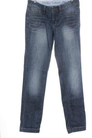 Esprit Straight-Leg Jeans blau-wollweiß Washed-Optik