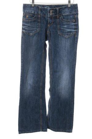 Esprit Jeans coupe-droite bleu foncé style décontracté