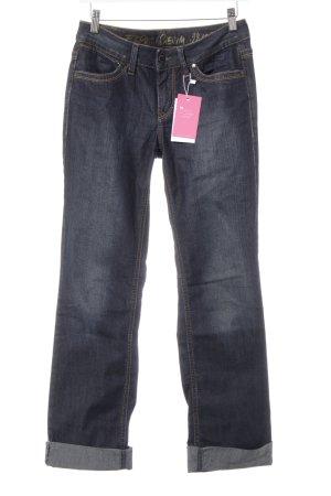 Esprit Straight-Leg Jeans dunkelblau Casual-Look