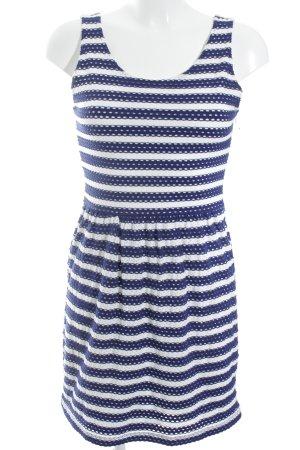 Esprit Robe de plage bleu foncé-blanc motif rayé Look de plage