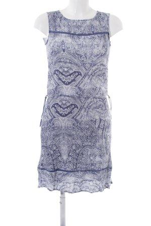Esprit Vestido playero blanco-azul oscuro estampado con diseño de cachemira
