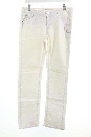 Esprit Stretch Jeans weiß-silberfarben Casual-Look