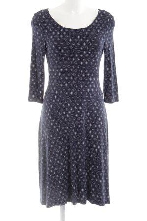 Esprit Stretch jurk blauw-wit volledige print casual uitstraling