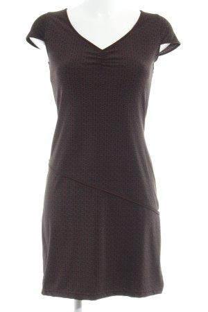 Esprit Stretch Dress dark brown graphic pattern casual look