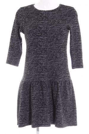 Esprit Stretchkleid schwarz-grau meliert Casual-Look