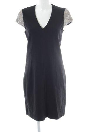 Esprit Stretchkleid schwarz-silberfarben Party-Look